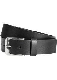 Ceinture homme Bonded Leather, bpc bonprix collection, noir