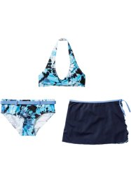 Bikini + jupe fille (Ens. 3 pces.), bpc bonprix collection, bleu/blanc batik