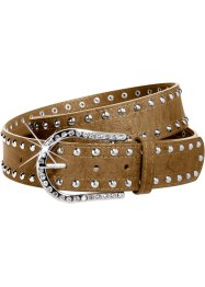 Ceinture clous et strass, bpc bonprix collection, cognac
