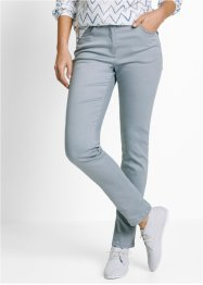 Pantalon confort super stretch, étroit, bpc bonprix collection, gris argent