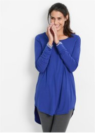 T-shirt long, manches longues, bpc bonprix collection, bleu saphir