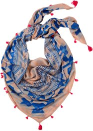 Foulard XXL, bpc bonprix collection, beige/bleu