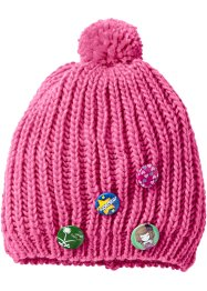 Bonnet à pompon enfant, bpc bonprix collection, fuchsia