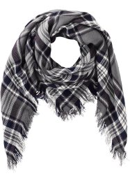 Foulard à carreaux, bpc bonprix collection, noir/blanc/gris