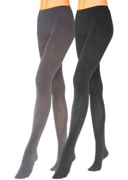 Collants en maille LAVANA (lot de 2), LAVANA, noir/anthracite