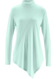 Top col roulé, bpc bonprix collection, menthe pastel chiné