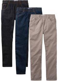 Lot de 3 pantalons relax, John Baner JEANSWEAR