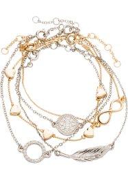 Set de bracelets (Ens. 5 pces.), bpc bonprix collection