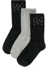 Lot de 3 paires de chaussettes avec rivets, bpc bonprix collection