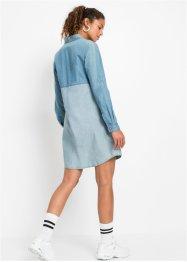 Robe-chemise en jean bicolore, RAINBOW