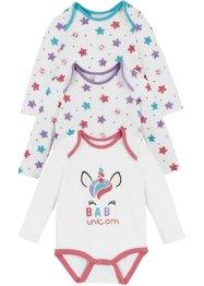 Bodies bébé manches longues coton bio, bpc bonprix collection