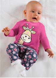 Lot de 2 T-shirts bébé manches longues coton bio, bpc bonprix collection