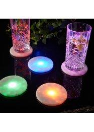 Lot de 5 dessous de verre LED, bpc living bonprix collection