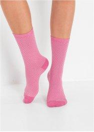 Lot de 6 paires de chaussettes femme à motif tricoté, bpc bonprix collection