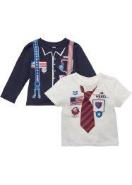 T-shirt bébé + T-shirt manches longues (Ens. 2 pces.) en coton bio, bpc bonprix collection