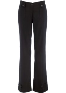 Pantalon droit en bengaline, bpc bonprix collection, noir