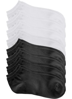 Lot de 8 paires de socquettes, bpc bonprix collection, noir+blanc