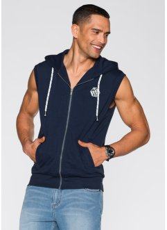 Gilet sweat sans manches Regular Fit, RAINBOW, bleu foncé