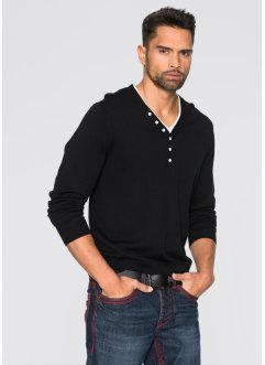 Pull Slim Fit, RAINBOW, noir/blanc
