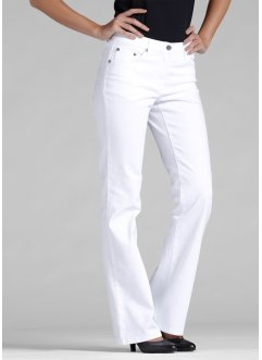 Pantalon extensible bootcut, bpc bonprix collection, blanc