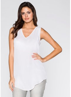 Top-blouse long, BODYFLIRT, blanc