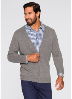 Gilet laine d'agneau Regular Fit, bpc bonprix collection, gris chiné
