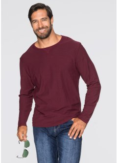 T-shirt manches longues Regular Fit, bpc bonprix collection, rouge érable