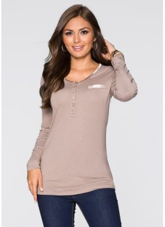 T-shirt manches longues, BODYFLIRT, taupe