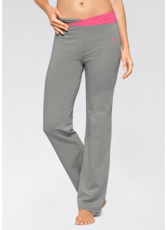 Pantalon de sport extensible, bpc bonprix collection, gris neutre/rose flamant