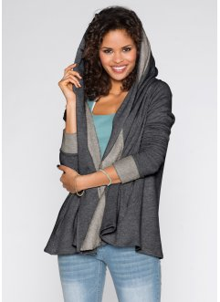 Gilet sweat, RAINBOW, anthracite chiné