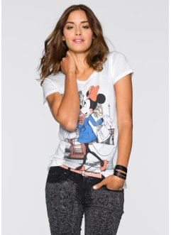 T-shirt Minnie Mouse, Disney, blanc cassé imprimé