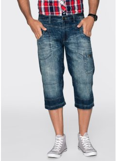 Jean 3/4 Regular Fit Straight, John Baner JEANSWEAR, bleu used