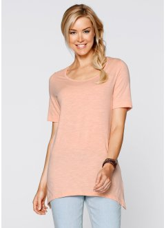 T-shirt base en pointe en fil flammé demi-manches, bpc bonprix collection, melba