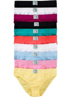 Lot de 10 slips, bpc bonprix collection, multicolore/pastel