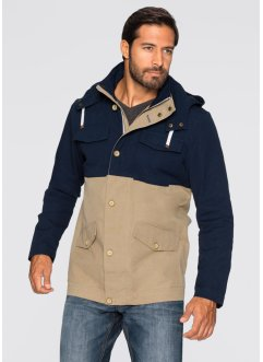 Veste mi-saison Regular Fit, bpc bonprix collection, bleu foncé/beige