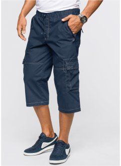 Pantalon 3/4 Loose Fit, bpc bonprix collection, bleu foncé
