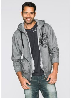 Gilet sweat-shirt Slim Fit, RAINBOW, gris