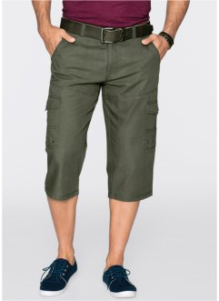 Pantalon cargo 3/4 Regular Fit Straight, bpc bonprix collection, olive