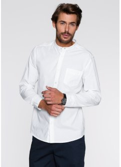 Chemise manches longues Regular Fit, bpc bonprix collection, blanc