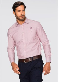 Chemise manches longues Regular Fit, bpc selection, rouge chiné