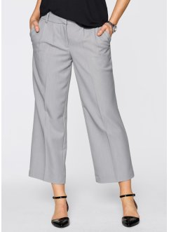Pantalon ample style jupe-culotte, bpc bonprix collection, gris clair chiné