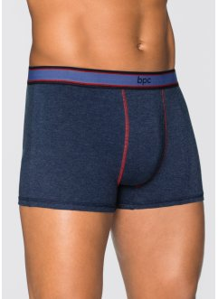 Lot de 3 boxers, bpc bonprix collection, bleu foncé chiné