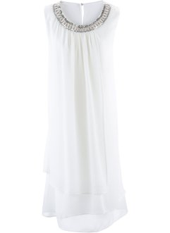 Robe avec application, bpc selection premium, blanc cassé