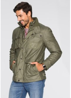 Parka militaire enduite Regular Fit, bpc bonprix collection, olive foncé