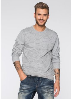 Sweatshirt Slim Fit, RAINBOW, gris clair chiné