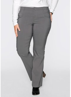 Pantalon extensible amincissant bootcut, bpc bonprix collection, gris fumée