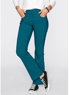 Pantalon extensible amincissant, droit, bpc bonprix collection, bleu pétrole