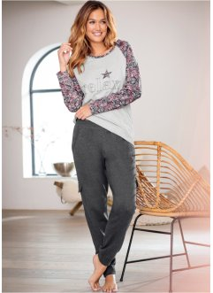 Pantalon sweat, bpc bonprix collection, anthracite chiné