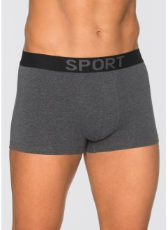 Lot de 3 boxers, bpc bonprix collection, anthracite chiné/noir