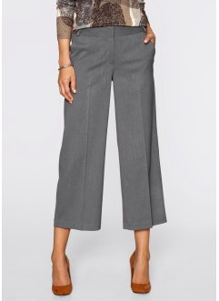 Pantalon ample 7/8, bpc selection, gris chiné
